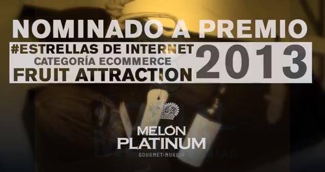 Nominación a la mejor E-Comerce de año para @MelonPlatinum en #FruitAtraction
