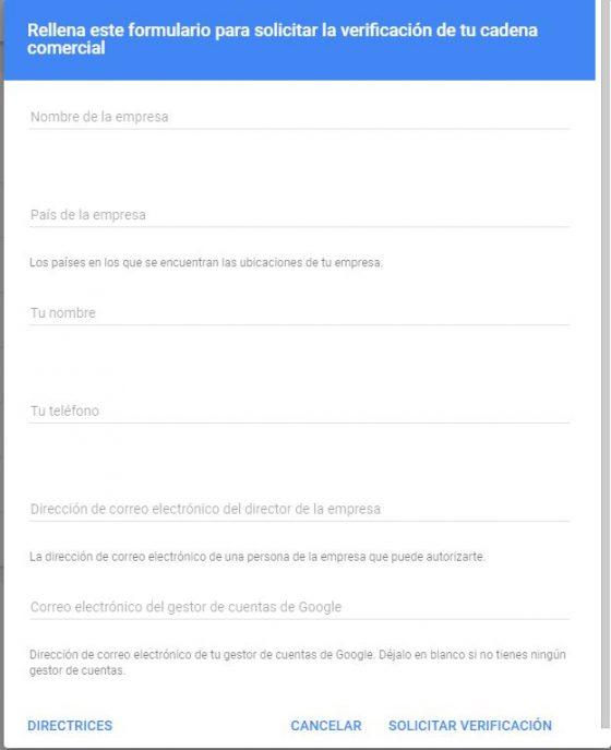 como verificar una marca con más de diez ubicaciones en Google My Business